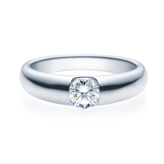 Enstens diamantring med 0,50 ct TW-Si i platina -18005050pt