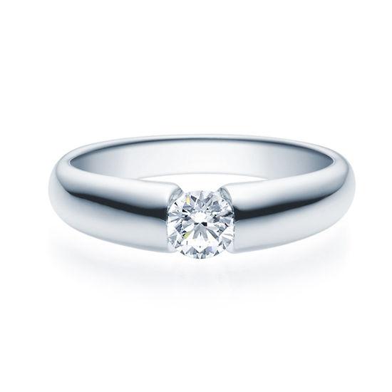 Enstens diamantring med 0,40 ct TW-Si i platina -18006040pt