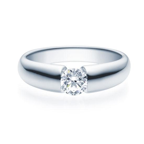 Enstens diamantring med 0,50 ct TW-Si i platina -18006050pt