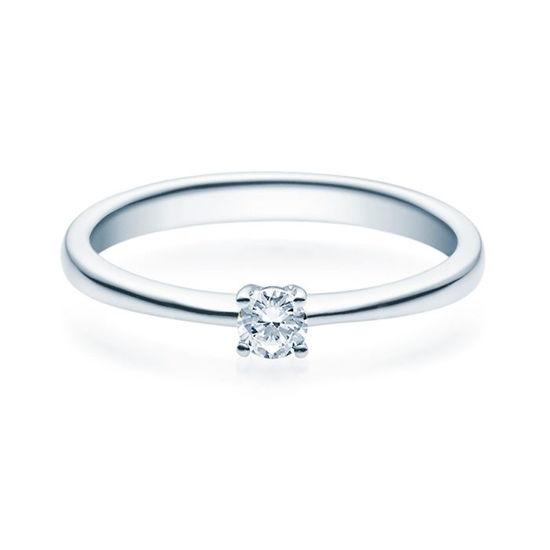Enstens diamantring Lilya med 0,16 ct i 14kt gull. TW-Si. -18008016