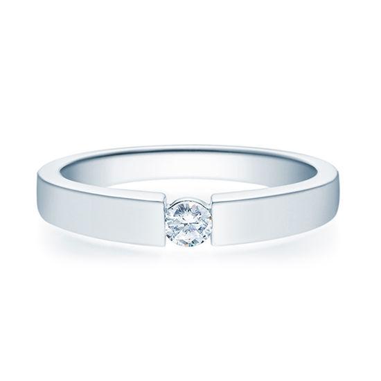 Enstens diamantring med 0,16 ct i 14kt gull. TW-Si. -18012016