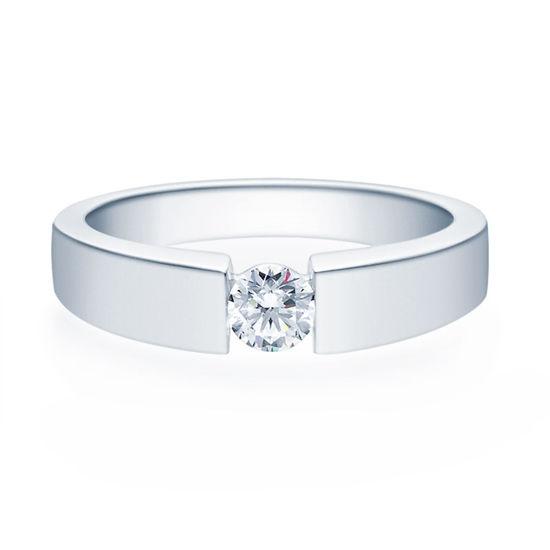 Enstens diamantring med 0,30 ct i 14kt gull. TW-Si. -18012030