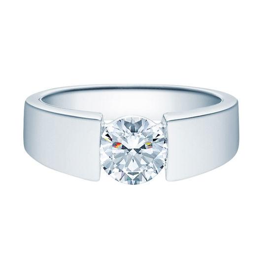 Enstens diamantring med 1,00 ct i 14kt gull. TW-Si. -18012100