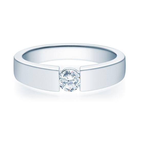 Enstens diamantring med 0,25 ct TW-Si i platina -18012025pt