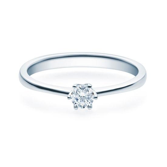 Enstens diamantring Aida med 0,20 ct i 14kt gull. TW-Si. -18016020