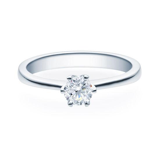 Enstens diamantring Aida med 0,40 ct TW-Si i platina -18016040pt