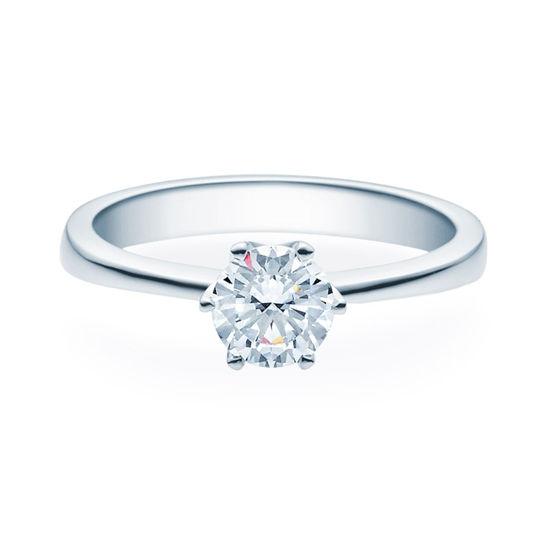 Enstens diamantring Aida med 0,70 ct TW-Si i platina -18016070pt
