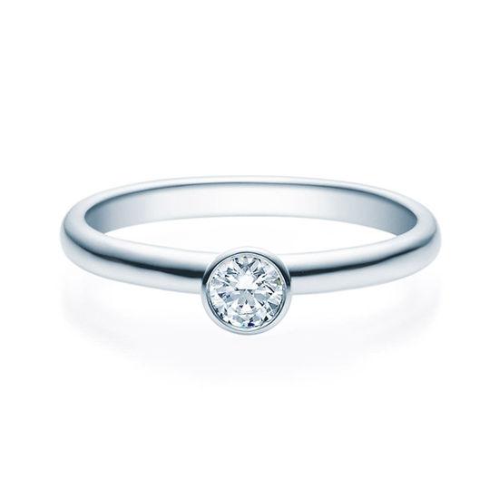 Enstens diamantring med 0,20 ct i 14kt gull. TW-Si. -18019020