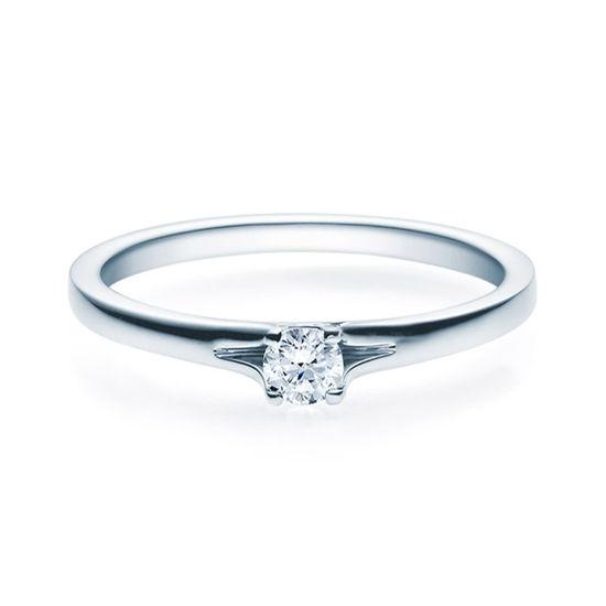 Enstens diamantring med 0,16 ct i 14kt gull. TW-Si. -18020016