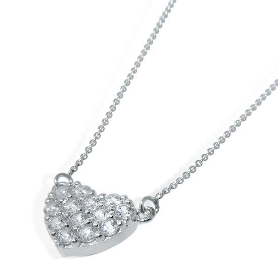 Diamantsmykke i hvitt gull -151152