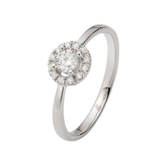 Flerstens diamantring Ja! med 0,30 ct TW-Si i 9kt gull -5100025