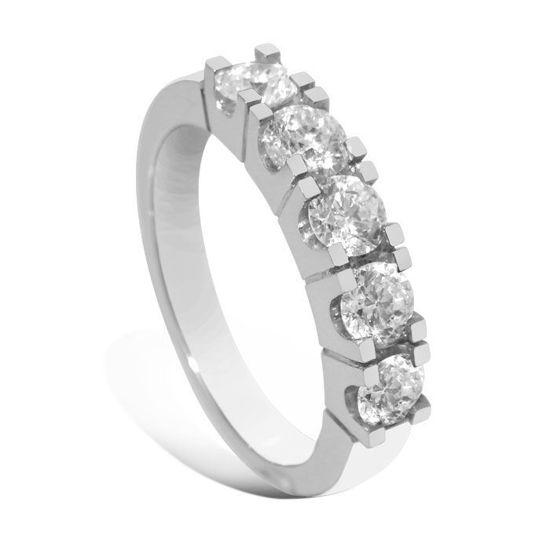 Diamantring Iselin med 5x0,20 ct TW-Si-8505020