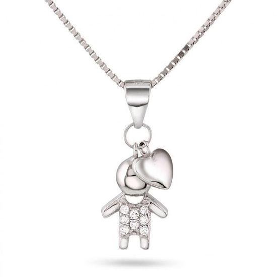 Smykke i sølv. Gutt og Hjerte - 64065