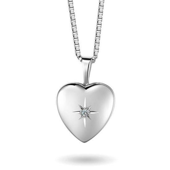 Smykke i sølv. Medaljong - 67065
