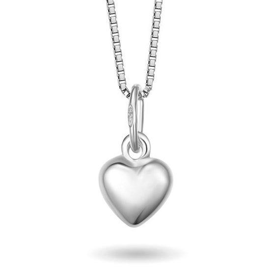 Smykke i sølv. Hjerte lite - 64008