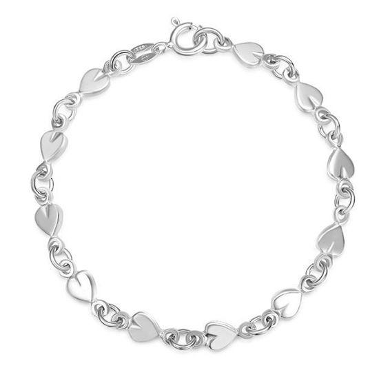 Armbånd i sølv. Hjerte - 62196