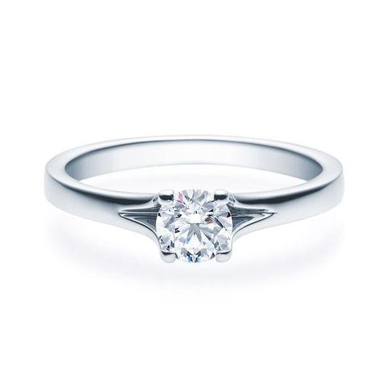 Enstens platina diamantring med 0,50 ct TW-Si -18020050pt
