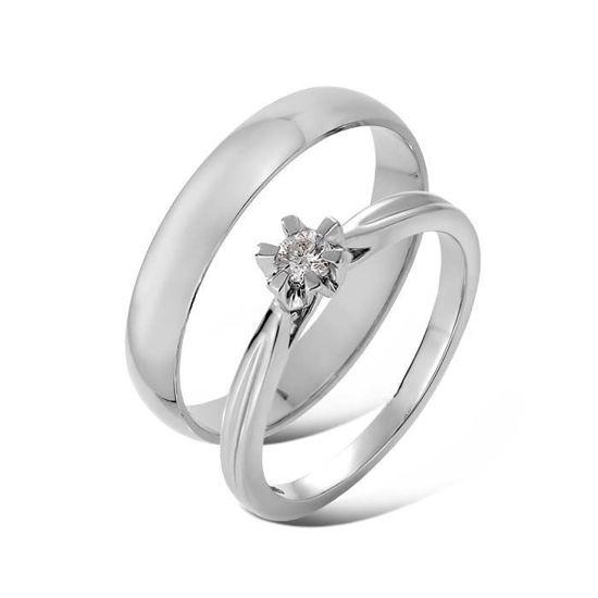 Giftering & diamantring Sitara 0,010 ct hvitt gull- 1340-222110