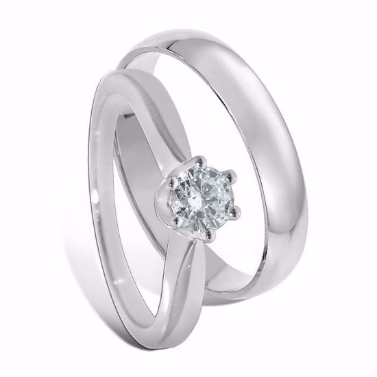 Giftering & diamantring 0,25 ct gull 14kt, 4 mm - 1340-COC00987