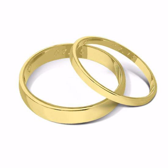 Gifteringer fra OREST i gult gull 14kt, 2mm-4 mm -115200400