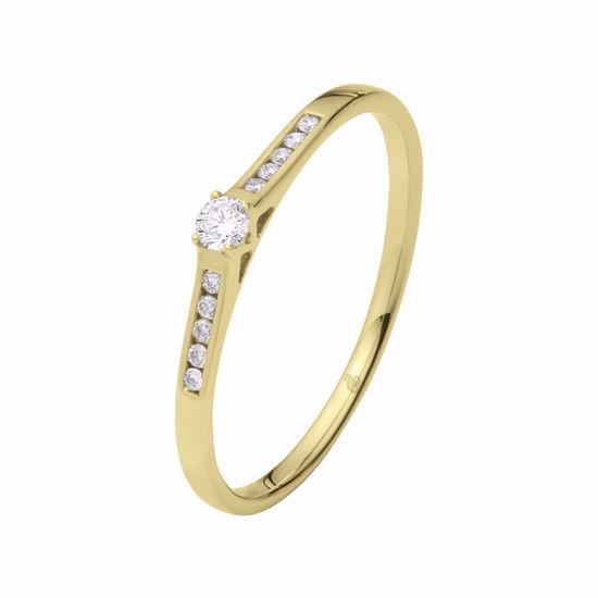 Diamantring Ja! med 0,10 ct TW-Si i 14kt gull -51000320
