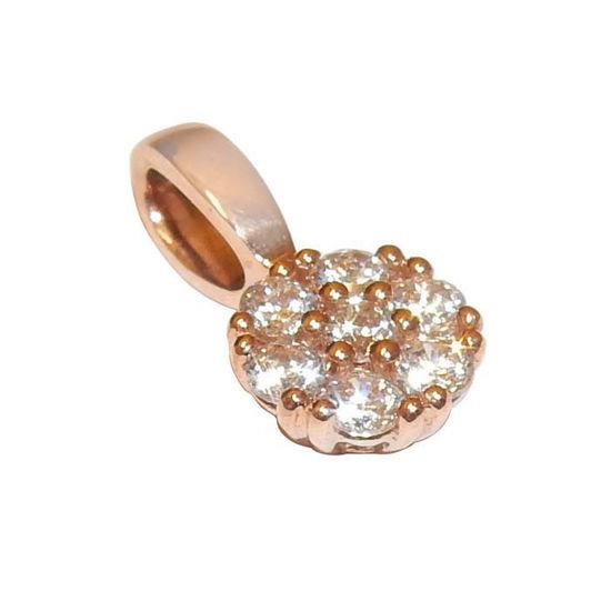 Rosé gull smykke 9 k med zirkonia - 1199479