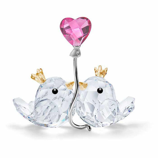 Swarovski figurer. Love Birds, Pink Heart - 5492226