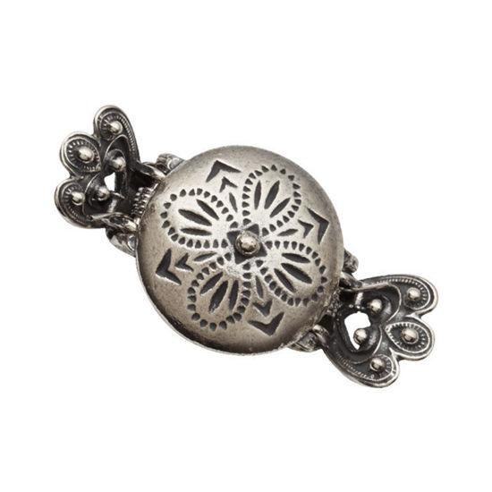 Hårspenne i sølv Emma stor, hvit - 900310