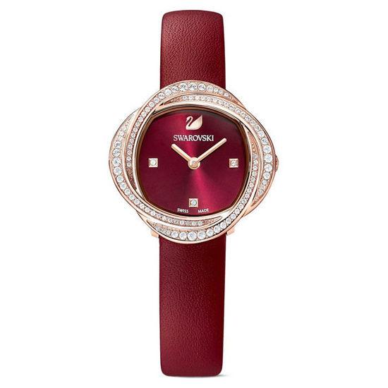 Swarovski klokke Crystal Flower, rød - 5552780