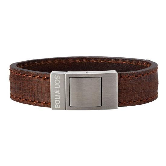 Herre armbånd i calvelskinn, brun. SON of NOA - 897002BROWN19