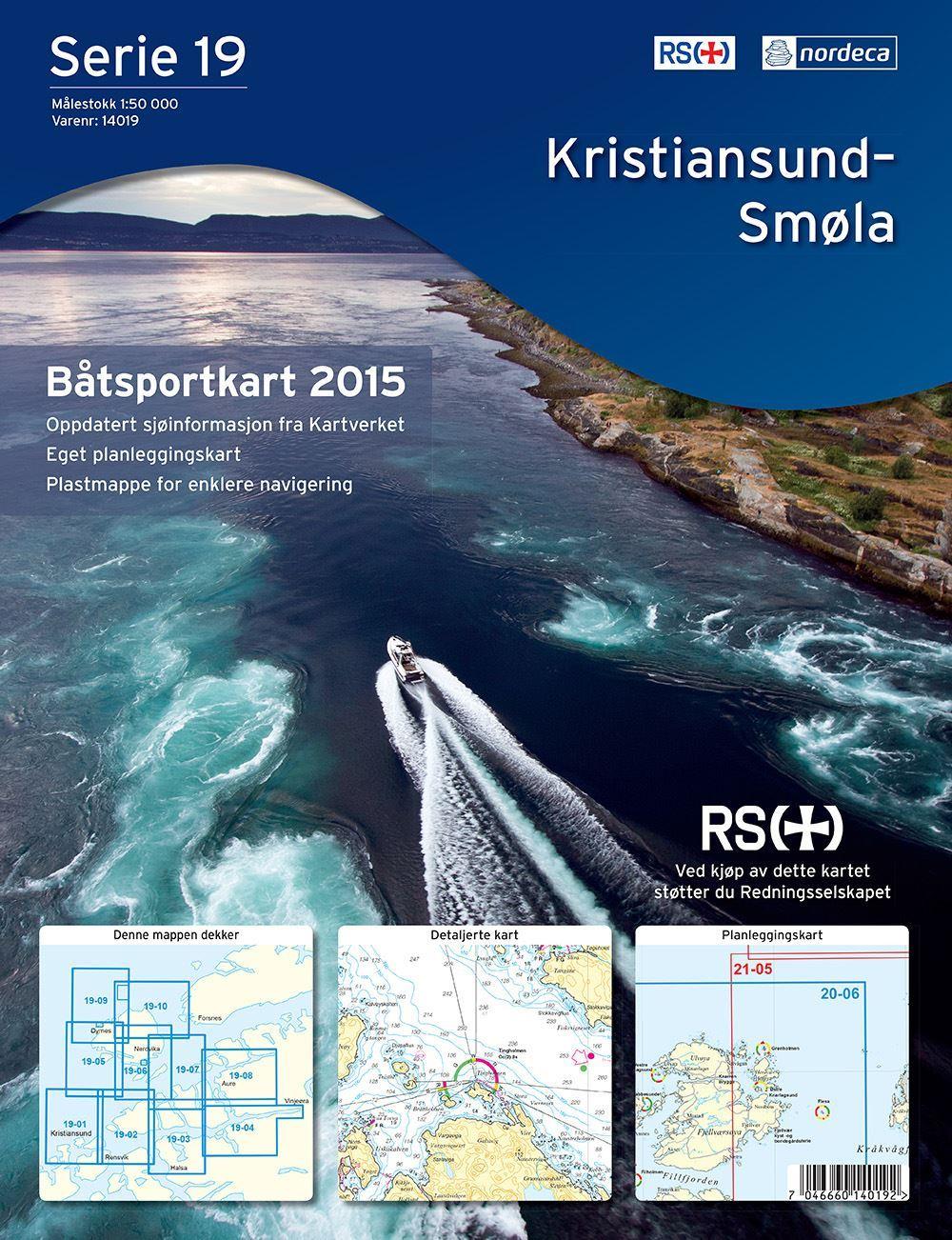 Bilde av Båtsportkart Serie 19 Kristiansund-Smøla