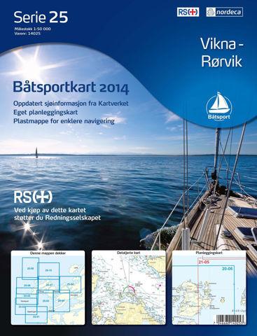 Bilde av Båtsportkart Serie 25 Vikna-Rørvik