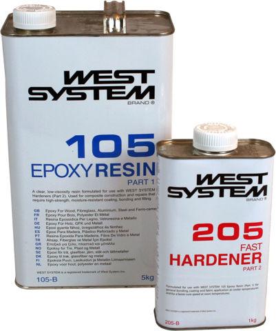 Bilde av West System epoxy resin og herder B-pakke