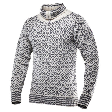Bilde av Devold Svalbard Sweater Zip Neck Offwhite/ANTHRACITE