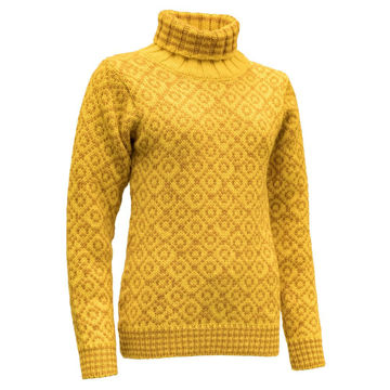 Bilde av Devold Svalbard Sweater High Neck Cyber/Arrowwood