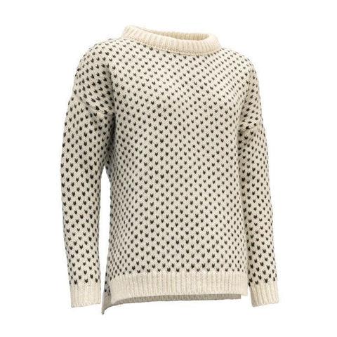 Bilde av Devold Nordsjø womans split seam sweater Offwhite