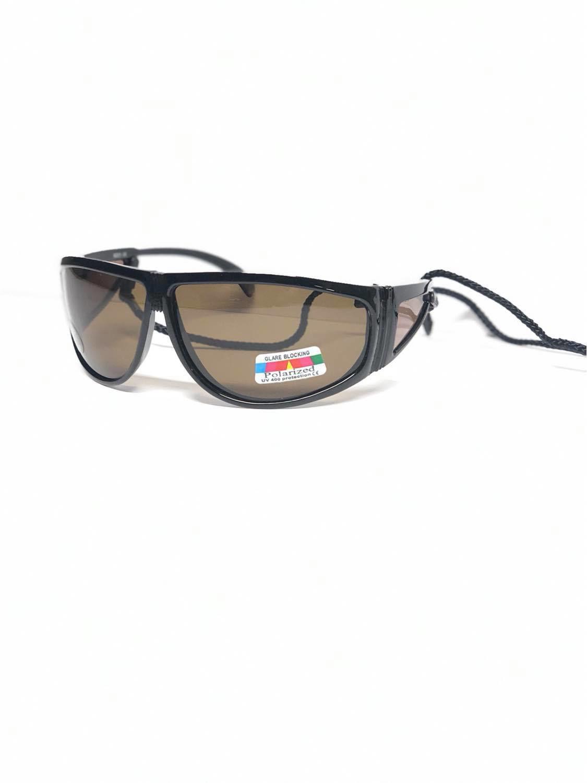 Bilde av Hurricane polariserte solbriller - Sort snor