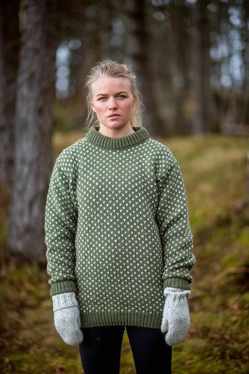 Bilde av Devold Nordsjø Sweater Crew Neck Olive